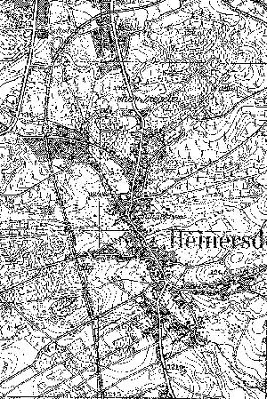 Niemiecka mapa topograficzna okolic Jędrzychowa z 1933 r. Widoczny jest przystanek kolejowy (Haltepunkt). Niespodzianką jest prawdopodobne zaznaczenie mijanki.