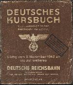 Niemiecki rozkład jazdy DR z 1942 r. (okładka). Zbiory Mieczysław J. Bonisławskiego